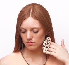 MARTIN PESCADOR leather earrings Turquoise and light by uyLaurel