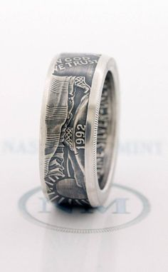 size 19 ring made from silver dollar. Us Silver Coins, Silver Dollar Coin, Silver Anniversary, Anniversary Bands, Custom Coins, Coin Art, Coin Ring, Coin Jewelry, Size 10 Rings