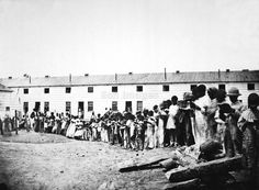 1863  |  Contraband School, Freedmen's Village, Arlington, Virginia.   |    A contraband camp that was transformed into the first home that thousands of former Slaves would live in as 'Free People' until it was shut down by the Government, in1900.  Dignitaries from around the Nation came. The most famous was Sojourner Truth, the fiery Abolitionist and Preacher, spent about a year at Freedman's Village as a counselor and teacher.   (Mathew Brady Collection. Image date: 1863.)