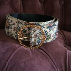 bp Floral belt This unique belt is textured and fun. Wear it over a flowy dress, or with jeans! Two missing rhinestones on buckle and slight wear on belt (pictured). bp Accessories Belts