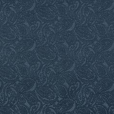Blue-Dark, Blue-Light Brocade/Matelasse, Damask/Jacquard  Upholstery Fabric - K6685 DELFT/PAISLEY