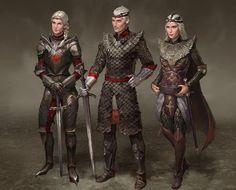 Visenya, Aegon and Rhaenys Targaryen.