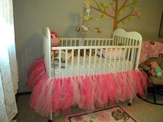 Tutu Crib Skirt by WildflowrCreations on Etsy Baby Nursery Diy, Girl Nursery, Baby Room, Diy Baby, Nursery Ideas, Tutu Crib Skirt, Crib Skirts, Niece And Nephew, Having A Baby