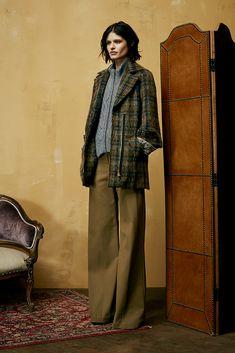 Veronica Beard Fall Collection, wide leg pants, mohair coat