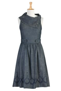 Vintage Style Chambray