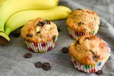 Bananenmuffins met chocolade // gezonde ontbijtmuffins met banaan en chocolade <3