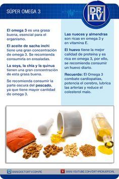 Descubra los alimentos más ricos en Omega 3.