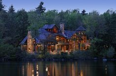 Log cabin on the lake - I don't know where it is, but I'd like to find it