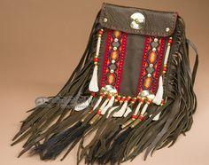 Handcrafted Pueblo Indian Medicine Side Bag - made by the famous Tigua Indians of Pueblo heritage.