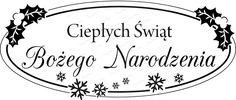 067 Stempel - Ciepłych Świąt Bożego Narodzenia CraftyMoly