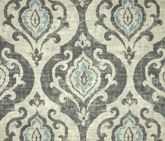 Slate and Spa Blue Medallion fabric
