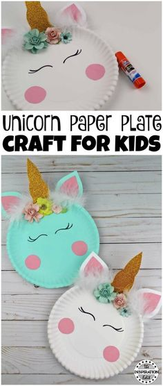 Paper Plate Crafts An Easy Unicorn Project unicron paper plate craft Einhorn DIY und Basteldieen. Related posts: Paper Plate Llamas 10 Easy Crafts For Outdoor Summer Parties 25 Magical Unicorn Crafts for Kids 40 Best Easy Crafts und DIY für Kinder Paper Plate Crafts For Kids, Crafts For Girls, Crafts To Do, Easy Crafts, Paper Plate Art, Creative Crafts, Easy Toddler Crafts, Toddler Paper Crafts, Crafts For Babies