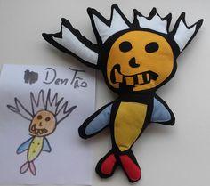 Bonecos de desenhos infantis  by D'Pano   http://www.elo7.com.br/104BC5