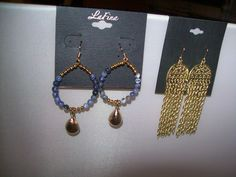 LA FINA and ZAD Pierced Earrings new with tag