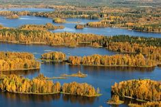 Ullavajärvi Pohjanmaalla. Finland is an exceptionally large number of lakes.