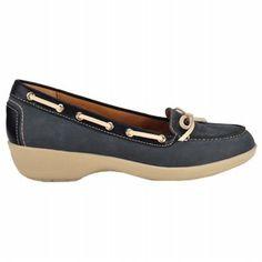 Softspots Ally Shoes (Denim & Cream) - Women's Shoes - 6.0 W