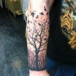 Dead Tree and Bird Tattoo- Based off Existing Image Kyle L, Lark Tattoo Albany, NY