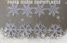 DIY Snowflakes  : DIY Paper chain snowflakes