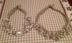 Collane con spago riciclato con perle recuperate da altre collane