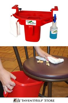 Make cleaning your tables and kitchen counters easier with Table Hopper® Cleaning Caddy! Buy now at inventhelpstore.com.