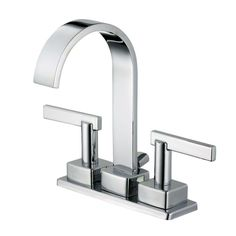 Centerset Minispread High Arc Bathroom Faucet In Chrome Part 6