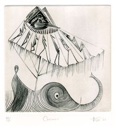 """Caravan by Ian Hugo (1898 - 1985) 