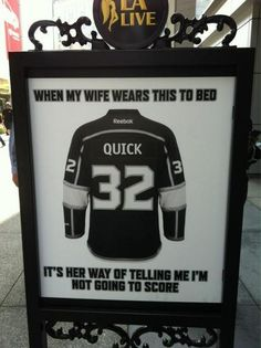 Check out this clever Reebok ad featuring Jonathan Quick found outside the Staples Center - Last Angry Fan