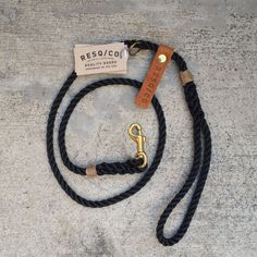 Rope Leash / RESQ Leash The Strong Rope Dog Leash BLK by RESQCO