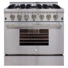 Aga Professional 6-Burner Convection Single Oven Dual Fuel Range (Stai