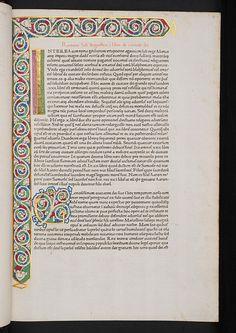 Illuminated white vine stem border in Augustinus, Aurelius: De civitate dei | Flickr - Photo Sharing!