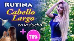 RUTINA de CABELLO LARGO en la ducha + TIPS para cuidarlo - YouTube