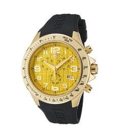 Swiss Legend Men's Eograph Chronograph Yellow Grid Dial Black Rubber SL-30041-YG-07 Watch - on #sale 88% off @ #Bluefly  #SwissLegend