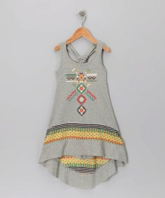 Take a look at this Gray Navajo Dress by Truly Me on #zulily today!