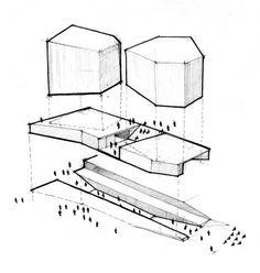 1er. Puesto. Nueva Cinemateca de Bogotá. Boceto del concepto. Colectivo 720