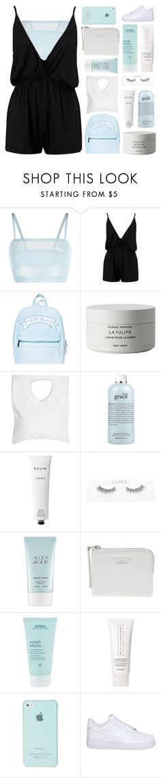 """IF YOU'RE GONNA STAY"" by constellation-s ❤ liked on Polyvore featuring La Perla, Boohoo, Sugarbaby, Byredo, Jennifer Haley, philosophy, Rodin, Giorgio Armani, Acne Studios and Aveda"