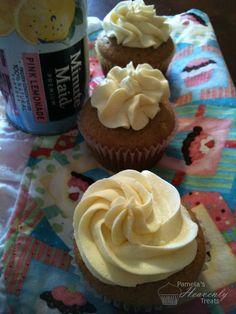 Pink Lemonade Cupcakes.......Hhhmmm wedding cake flavor