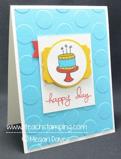 Happy Day Card by Stampin Meg - Cards and Paper Crafts at Splitcoaststampers