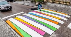 Madrid's Crosswalks Turned Into Colorful Works Of Art By Bulgarian Artist | Bored Panda