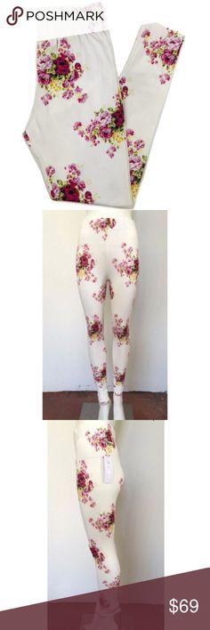 06d4af2e2d1cc Spiritual Gangster White Floral Leggings Spiritual Gangster White Floral  Leggings White/Pink/Yellow 1 X-small, 1 Small, 1 Medium Cotton & Lycra  Spiritual ...