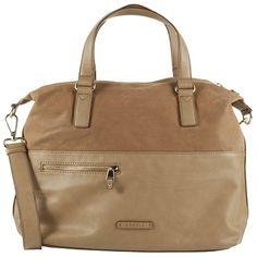 Braune #Tasche mit #Materialmix ab 69,99€ ♥ Hier kaufen: http://stylefru.it/s505792 #esprit #beige