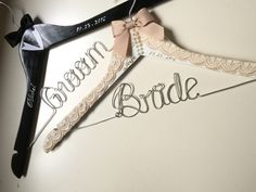 Custom hanger bride and groom