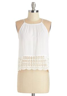 Countdown to Caribbean Top. With just a few days left before your vacation departure, youve already packed this white tank in your suitcase! #white #modcloth