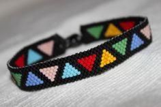 peyote christmas   handmade delica glass beads miyuki peyote bracelet christmas gift ...