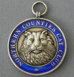 Antique Sterling Silver Northern Counties Cat Club Watch Fob Award Medal 1911 | eBay