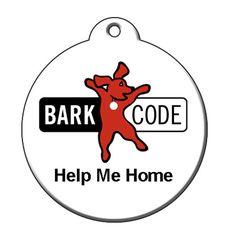 Help Me Home QR Code Pet ID Tag by BarkCode - Company Logo #barkcode