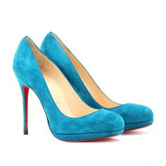 Christian Louboutin Filo 120 Suede Pumps ($795) ❤ liked on Polyvore
