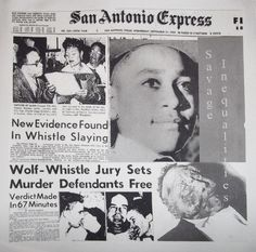 Emmett Till. Don't let the idiocy of Lil Wayne be all that you know about this young mans tragedy.