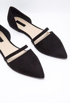 Cutout Faux Suede Flats - Womens shoes and boots   shop online   Forever 21 - Flats - 2000158149 - Forever 21 EU English