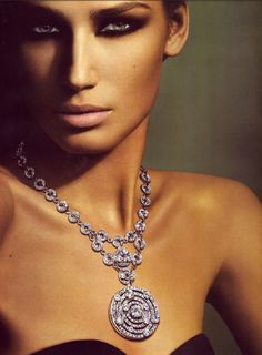 This diamond necklace is a statement piece, for sure.