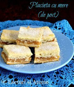 Placinta cu mere de post Placinta asta cu mere este de fapt o alta varianta Romanian Desserts, Romanian Food, Apple Diet, Yummy Food, Tasty, Vegan Sweets, Vegan Food, Vegan Recipes, Dessert Recipes